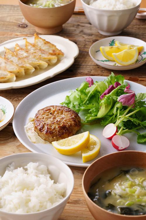 レモンポーク餃子&ハンバーグ