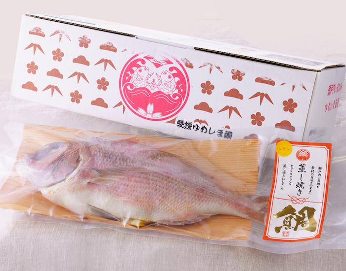 浦安水産の蒸し焼き鯛
