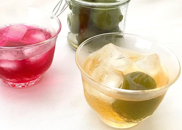 しそジュース&梅ジュース